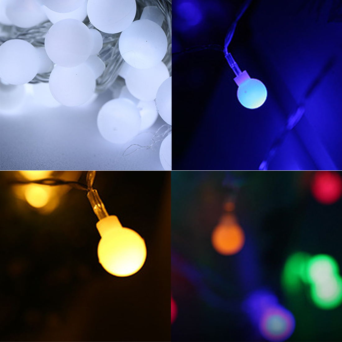Decoration Scrub Round Fairy String Lights Lamp 3M 20lED Lights for Indoor/Outdoor Decoration Christmas Wedding Supplies