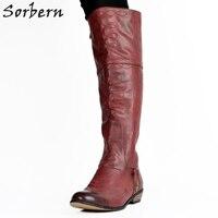 Женские Модные Обувь Размеры 44 Низкий каблук круглый носок Для женщин S Сапоги и ботинки для девочек зимние Дамские ботиночки; женская обувь