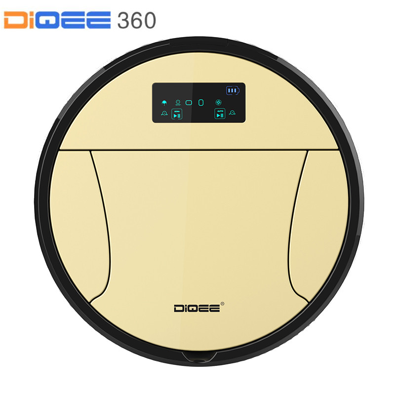DIQEE 350 Smart Robot Vacuum Cleaner for Home cyclone Sweeping Dust Sterilize Gyro navigation Planned Water Tank mop Filter mpso and mga approaches for mobile robot navigation