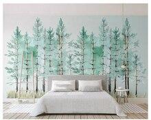 купить Custom high fresco wallpapers living room scenery violet flower sea TV backdrop wall papel de paredewallpaper for walls 3 d по цене 576.41 рублей