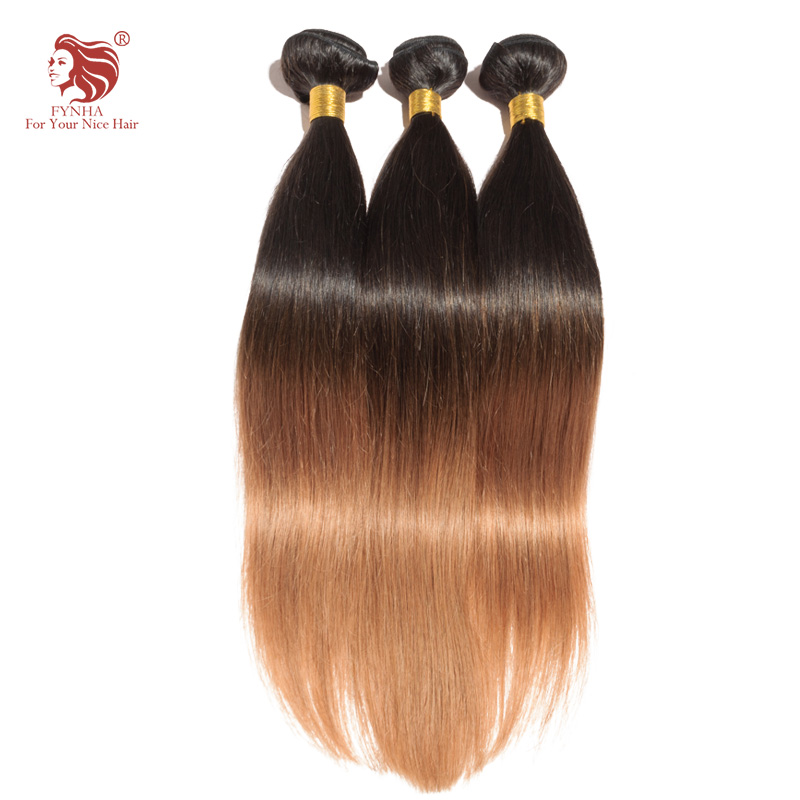 ФОТО 3pcs/lot grade 6a ombre weave 1B/30# Malaysian remy straight human hair extensions 16''-24'' mix length DHL free shipping