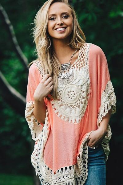 Sexy beach swimwear crochet cover up 2018 Female Tunic Bohemia crochet Bikini Cover-Ups Hollow Out Beach Wear Blouse