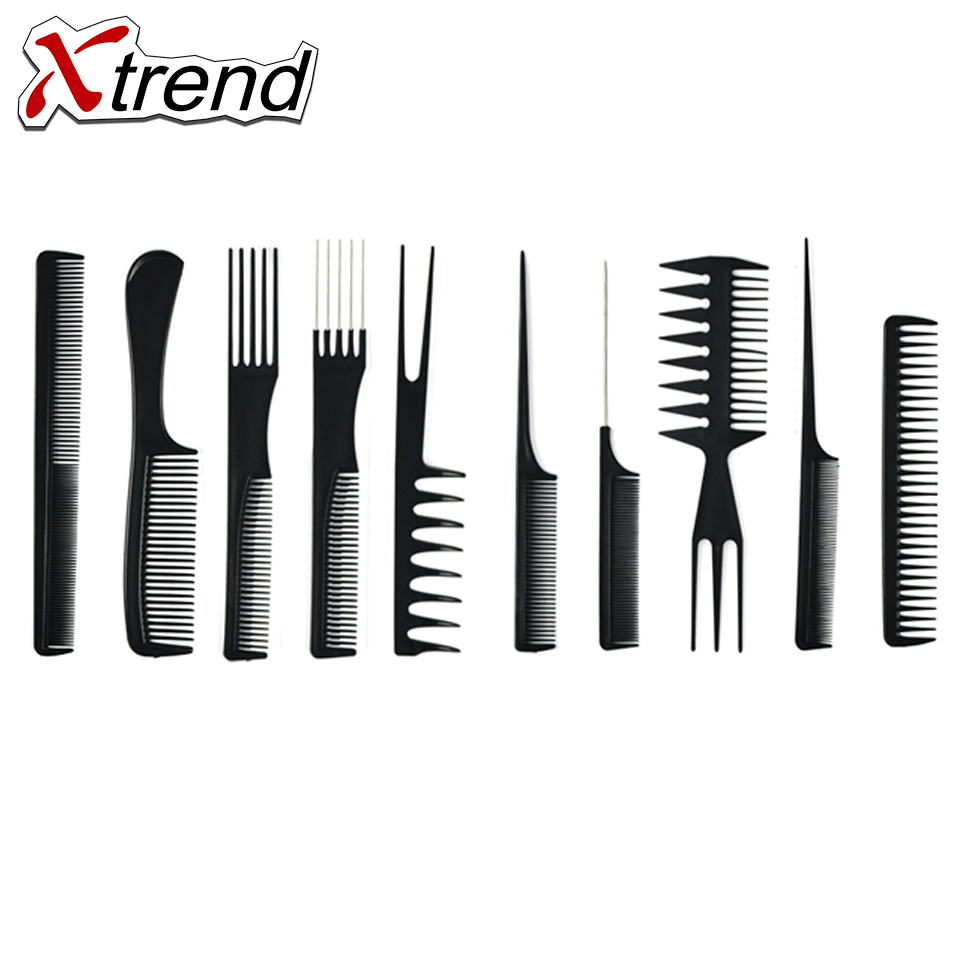 buy 10pcs hair combs anti static carbon hair brush professional pro salon hair. Black Bedroom Furniture Sets. Home Design Ideas