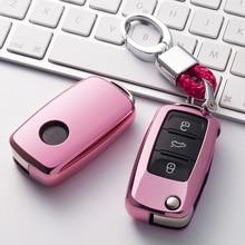 ТПУ чехол для автомобильных ключей, защитный чехол для авто ключей, VW Passat Lavida Tiguan, автомобильный держатель, чехол, красочные аксессуары для автомобиля