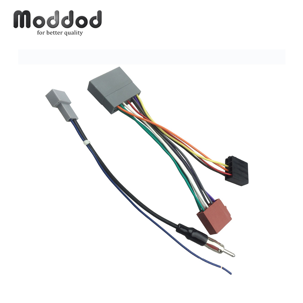 Wiring for Honda Civic 2006-2011 ISO Wiring Harness+Antenna Aerial Adaptor Connector Stereo Installation Wire Harness Cable(China)