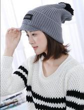2016 новых женщин Корейской версии осень и зима вязаная шапка двойной слой шерсть шляпа шерсть теплее