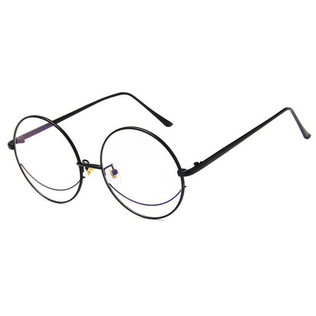50541ae9077 Fashion Brand Oversized Round Eyeglasses Frame Women Men 2018 Vintage Clear  Lens Metal Bookworm Classic Mirror Glasses Frame