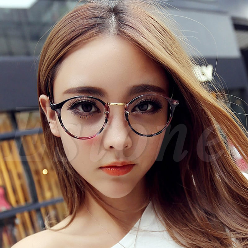 1pc eyeglasses frame vintage clear lens eyeglasses frame unisex retro round men women nerd glasses