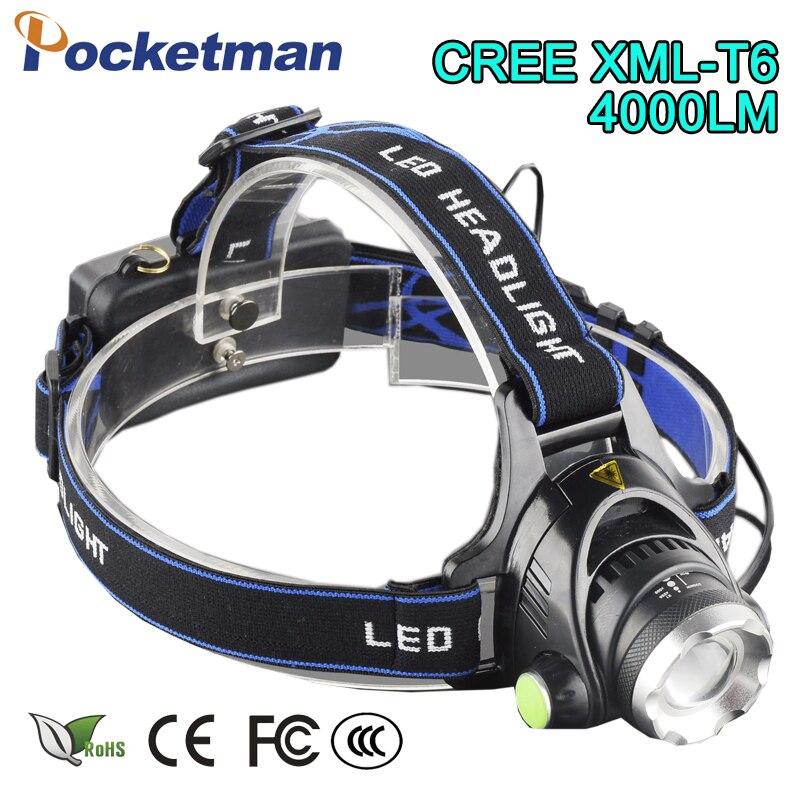 ⊱Zoom Rechargeable Headlight ᐂ 18650 18650 Led Headlamp ...