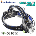 Zoom Rechargeable Headlight 18650 Led Headlamp CREE Waterproof XM-L T6 4000LM Head Lamp Light oomable