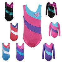 Toddler Girls Ballet Dress Long Sleeves Athletic Dance Leotards Dress Ballet Gymnastics Leotards Acrobatics For Kids