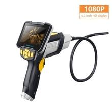 4,3 дюймов 6LED портативный эндоскоп 1080P камера для осмотра Бороскоп промышленный инструмент для ремонта авто жесткий ручной эндоскоп
