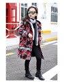 Niñas abrigos de lana niñas abrigos y chaquetas de Invierno de los nuevos niños Coreanos camuflaje chaqueta de lana envío gratis