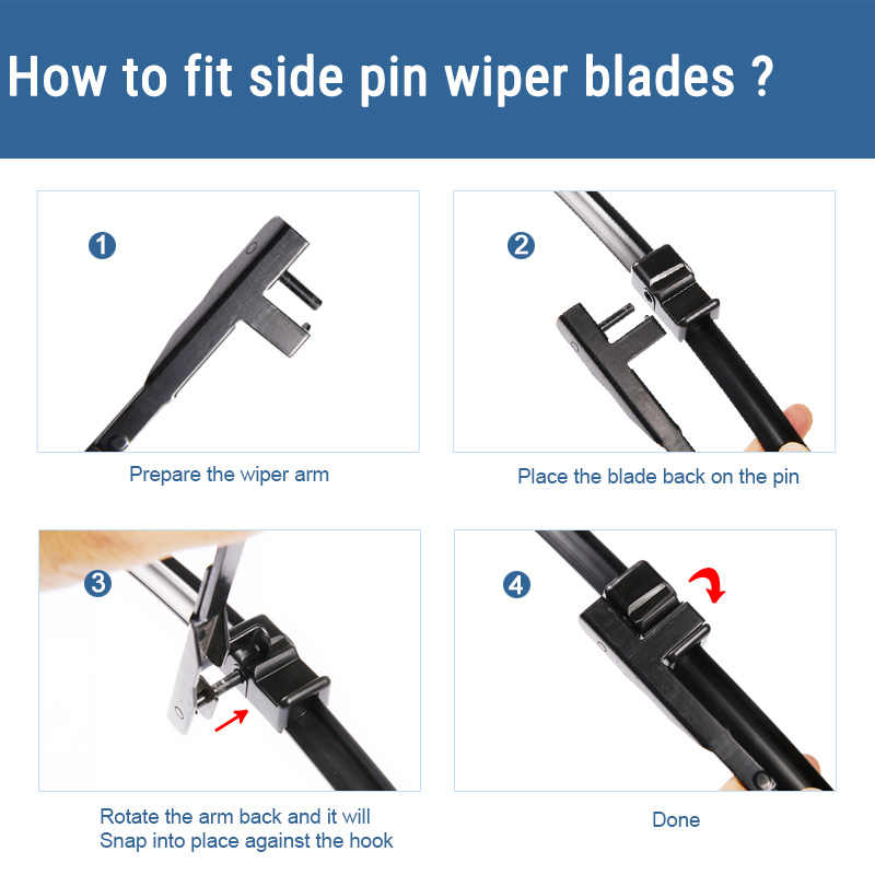 """SUMKS Wiper Blades for Ford Focus C-Max 26""""&19"""" Fit Side Pin Arms 2003 2004 2005 2006 2007"""