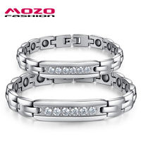 Free Shipping Wholesale Jewelry New Jewelry With Magnetic Energy Fatigue Couple New Fashion Stainless Steel Bracelets