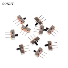 OOTDTY 10 Pcs 2 Position On/Off SPDT 1P2T 3 Pin PCB Panel Mini Vertical Slide Switch SS12D00G3
