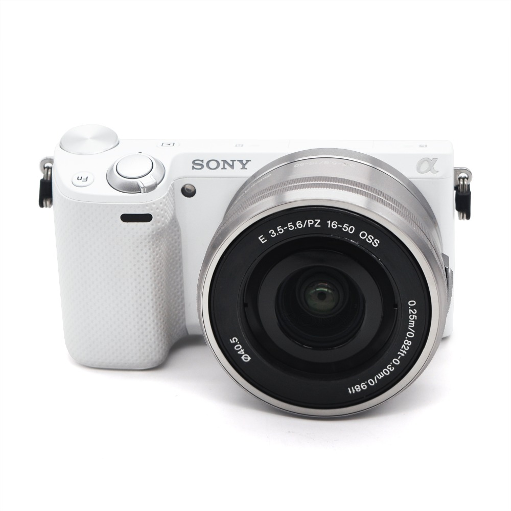 Used,Sony NEX-5R 16.1 MP Mirrorless Digital Camera with 18-55mm Lens and 3-Inch LCD (Black/White)