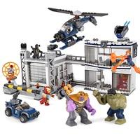 76131 New Avengers Compatible Legoinglys Marvel 4 Endgame Compound Battle Set Model Building Block Bricks Boy Toys Christmas