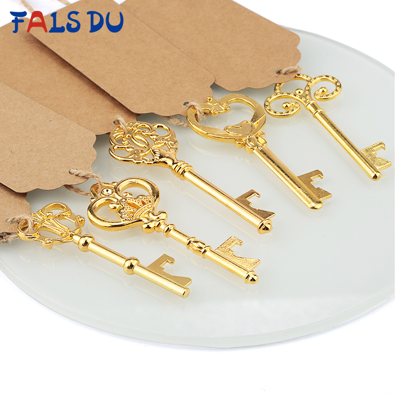 5pc Yellow Metal Soda Beer Bottle Opener Keychain Party Supply Gift Favor