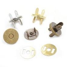 (10 zestawów/partia) 14mm-18mm cienkie przyciski magnetyczne torby magnes automatyczna adsorpcja klamra metalowe guziki zatrzaski portfel przyciski