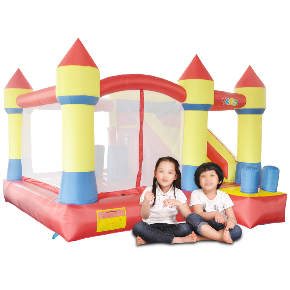 Bounce House Trampoline Inflatable font b Bouncer b font Jumping Bouncy Castle Inflatable Slide on Hot