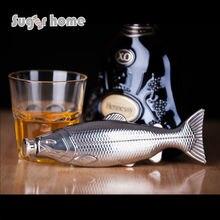 Heißer Verkauf persönlichkeit fisch form Glaskolben 4 unze Lebensmittelqualität Edelstahl Flachmann drink Alkohol Schnaps Flasche geschenke