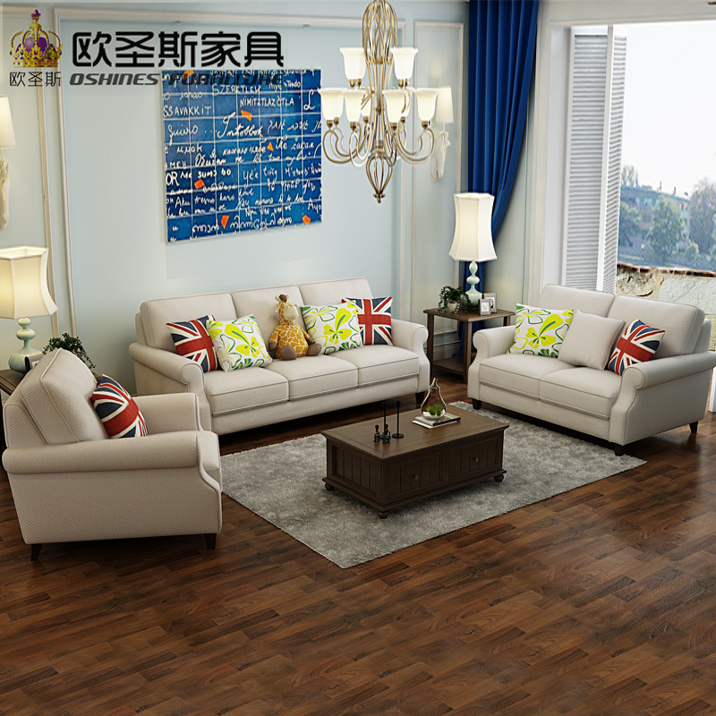 New arrival American style light grey color simple latest design living room chesterfield italian fabric sofa sets factory F75FA