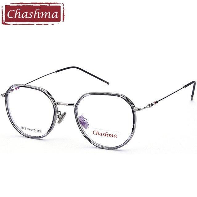 Chashma Brand Octagon Glasses Transparent Lenses Eyeglass Frame Fashion  armacao para oculos de grau feminino 1f0d7f0064