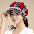New 2016 Winter Beanies Fur Hat  For Women Empty Cap Real Rabbit Fur Hat Beanies Elastic Warm Free Size Fashion Ladies Hat TM10
