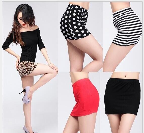 2019 Summer Fashion Sexy Package Hip Short Skirt Step Skirt Leopard Stripe Dot Print Women Skirts Mini Falda Midi Mujer