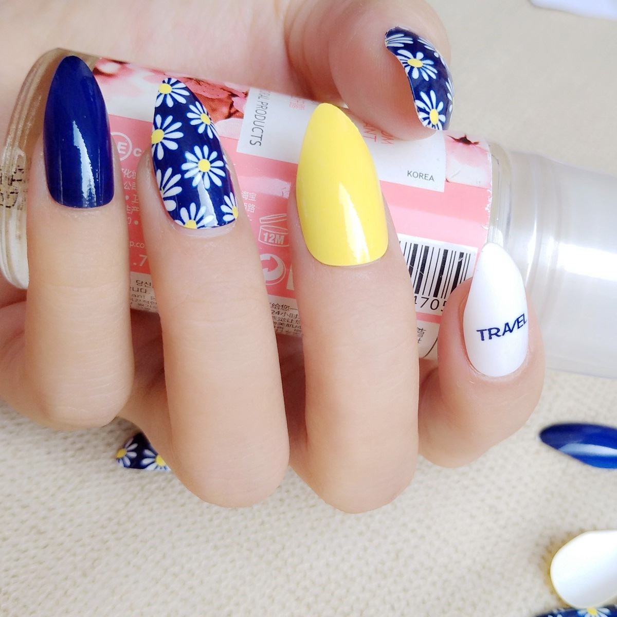 Buy navy blue white nails and get free shipping on AliExpress.com