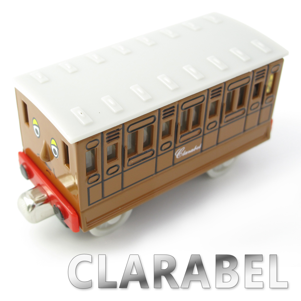 Diecasts Vehicles Thomas T027D CLARABEL Thomas And Friends Magnetic Tomas Truck Locomotive Engine Railway Train Toys for Boys