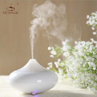 GX 02K Mini Aroma Diffuser Negative Ion Ultrasonic Drop Shape Home Fragrances Air Freshener White Pink