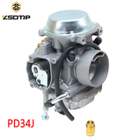 ZSDTRP 34mm Carburetor for Roketa ATV 11 JIANSHE JS400 Mountain Lion 400cc POLARIS 400 1995 2010 ATV PD34J Vacuum Carburetor