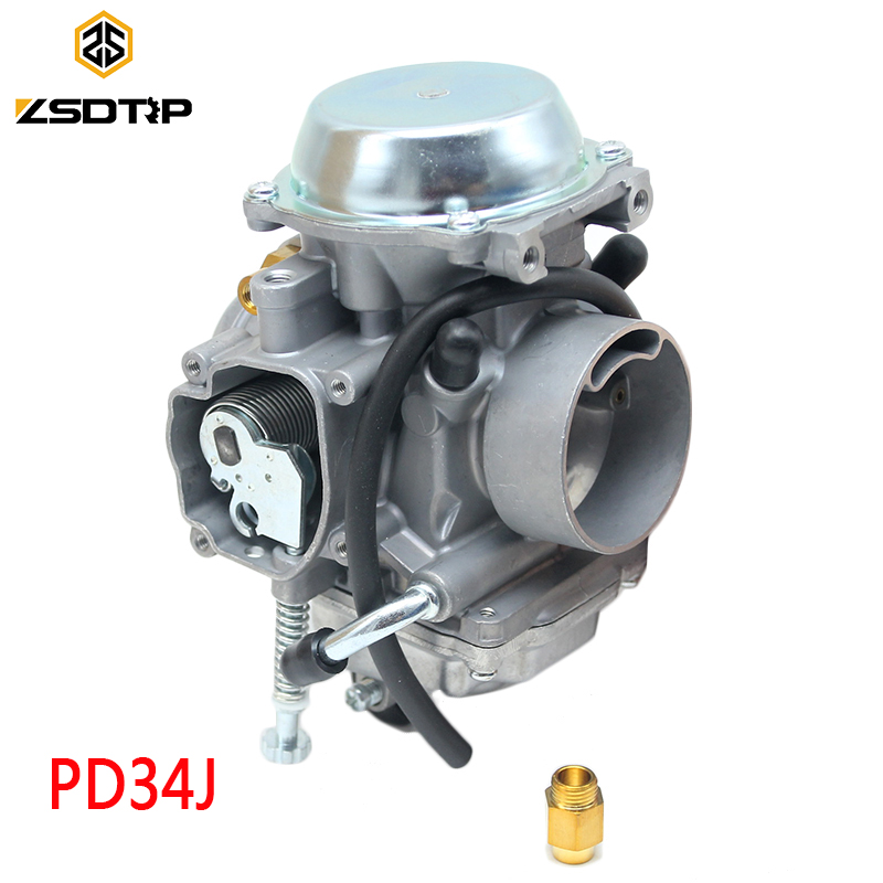 Zsdtrp 34 мм карбюратор для Roketa ATV-11 JIANSHE JS400 Mountain Lion 400cc POLARIS 400 1995-2010 ATV PD34J вакуум карбюратор