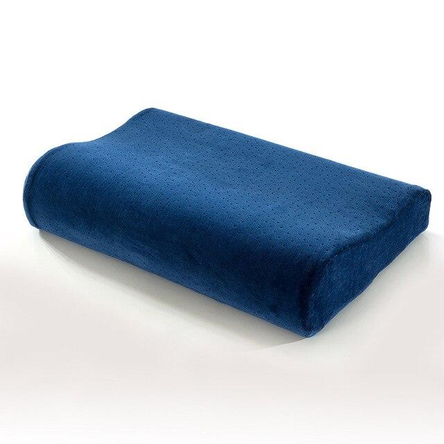 Cuscino Memory Foam Per Cervicale.Us 33 8 Ortopedico Cervicale Collo Cuscino Memory Foam Rimbalzo Lento Alto Basso Onda Cuscini One Piece Adulti Sleeping Bed Pillow Spedizione