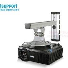 PR03 алюминиевый сплав 360 градусов проектор настенное крепление полный движения выдвижной универсальный проектор вешалка кронштейн