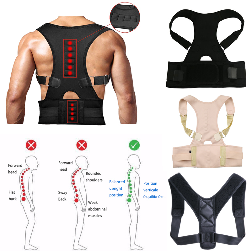 Einstellen magnetic therapie Zurück Haltung Corrector Brace Schulter Zurück Unterstützung Gürtel Schulter Haltung für Unisex