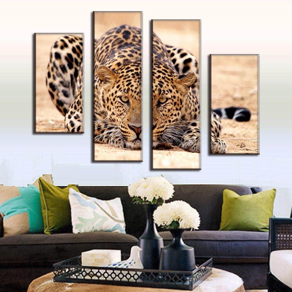 Modern Wall Paintings Living Room Aliexpresscom Buy 4 Pcs Set Excellent Large Canvas Paintings