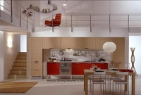 High Gloss Lacquer Kitchen Cabinet Mordern LH LA029