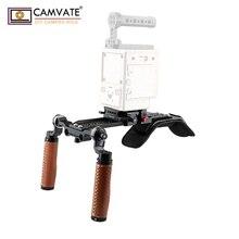CAMVATE Camera Vai Giàn Khoan Với ARRI Dây Tay Cầm & & ARRI Dưới Dovetail Tấm C100/ 200 /300 / Sony Fs5/Fs7/AU EVA1