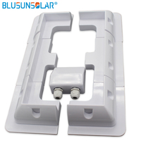 1sets/Lot White color ABS Solar Panel Mounting Bracket Kits Cable Entry Gand Ideal 7pcs/set for Caravan Motorhome RV