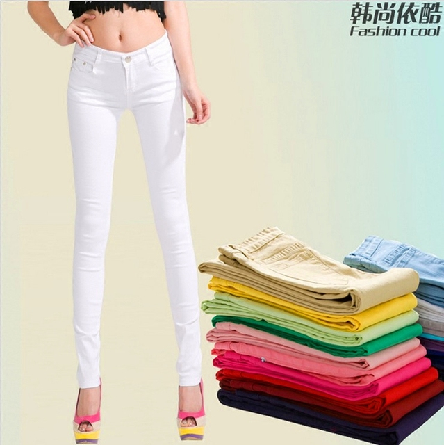 2017 summer thin models outer wear leggings Slim was thin candy-colored stretch pants big yards female feet pants wild