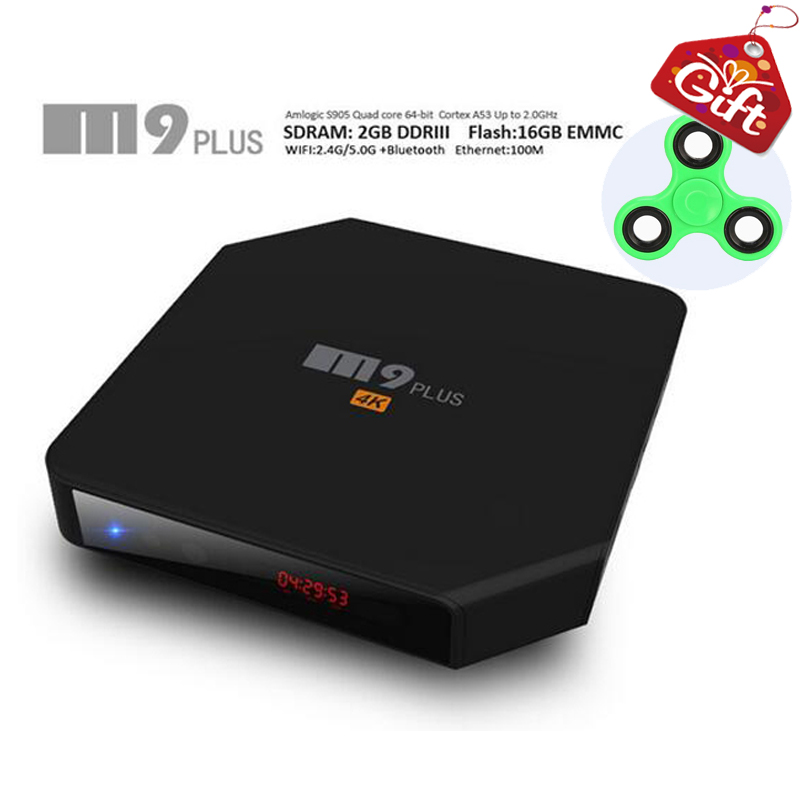M9 PLUS Android TV BOX 2GB RAM 16GB ROM Amlogic S905 2.4G/5.8G WIFI BT 4.0 Airplay Miracast HD Media Player DOLBY Pk Xiaomi X92 rondell сковорода delice 18 см без крышки rda 071 rondell