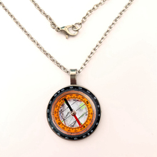 Hot Round glass Cabochon Jewelry Steampunk Compass pendant Vintage Compass pendant Vintage Compass necklace women men gift round aluminum compass silver