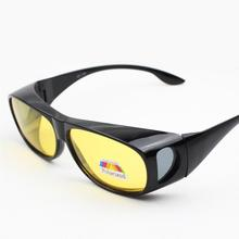 Mounchain Unisex Fishing Eyewear UV Protect Yellow Lens Classic Driving Sunglasses Wear over Prescription Night Vision Glasses
