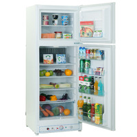 Smad 110V Gas No Freon Double Door Refrigerator Home Use Low Noise Electric Absorption Propane Fridge