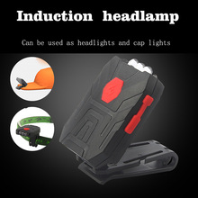 USB Charge Body Sensor Headlight 3LED Camping lamp Portable lantern Gesture switch Headlight For Fishing emergency Outdoor sport