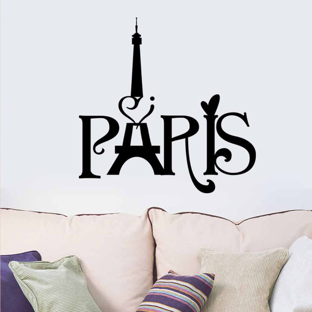 Paris Eiffel Tower Wall Hangings Living Room Bedroom Background Decoration  8511 Wall Stickers Home Decor