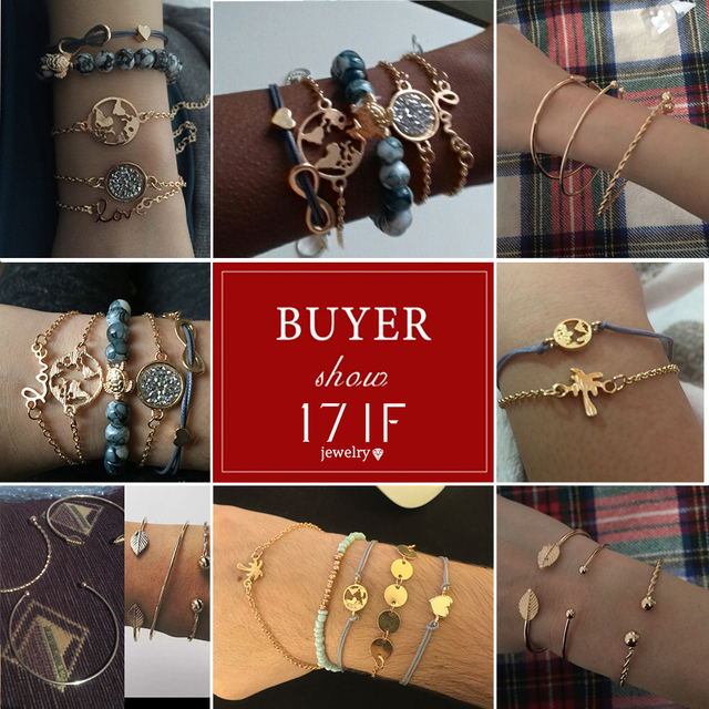 Boho Charm Infinity Bracelet